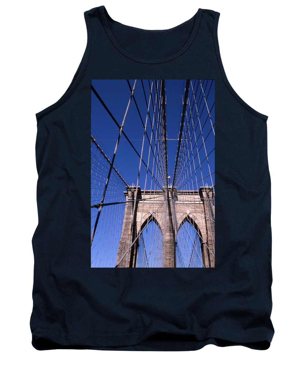 Landscape Brooklyn Bridge New York City Tank Top featuring the photograph Cnrg0407 by Henry Butz