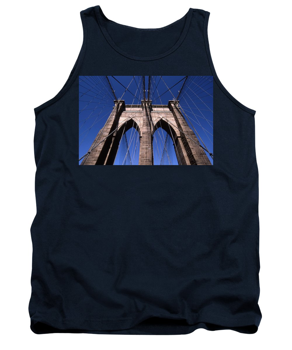 Landscape Brooklyn Bridge New York City Tank Top featuring the photograph Cnrg0409 by Henry Butz