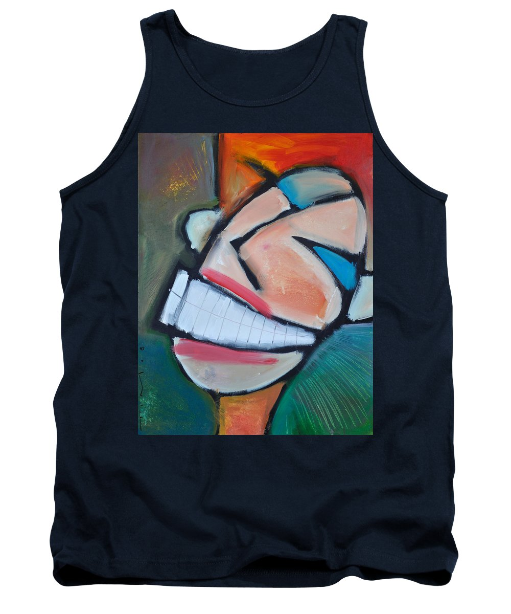 Smile Tank Top featuring the painting Coconut Bread by Tim Nyberg