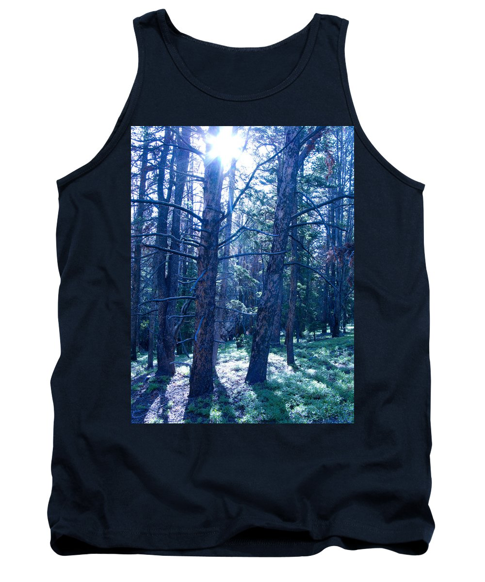 Blue Tank Top featuring the photograph Cold Mountain Light by Jeffery Ball