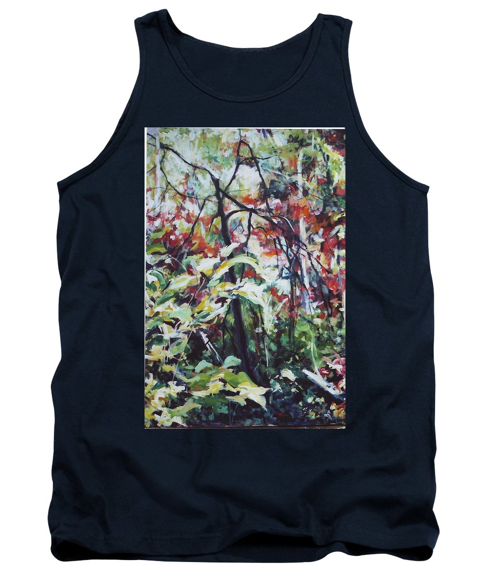 Landscape Tank Top featuring the painting Color Gone Wild by Sheila Holland