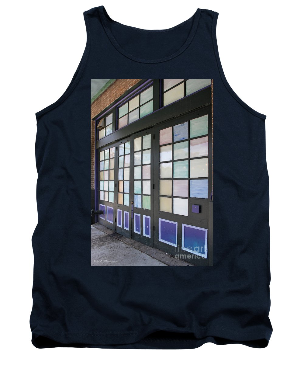 Architecture Tank Top featuring the photograph Colorful Doors by Todd Blanchard