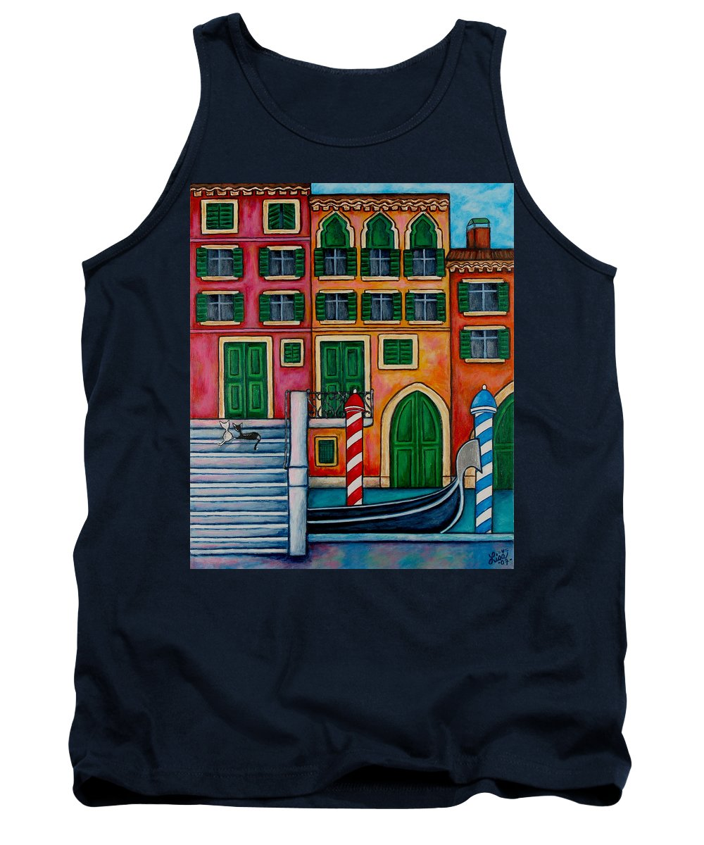 Venice Tank Top featuring the painting Colours of Venice by Lisa Lorenz