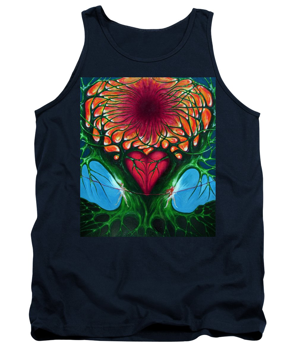 Colour Tank Top featuring the painting Connection - Separation by Wojtek Kowalski