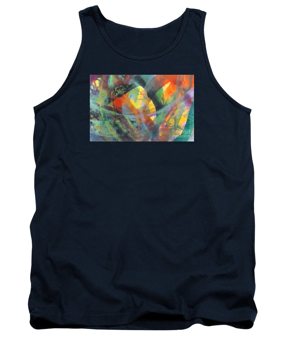 Abstract Tank Top featuring the painting Connections by Lucy Arnold