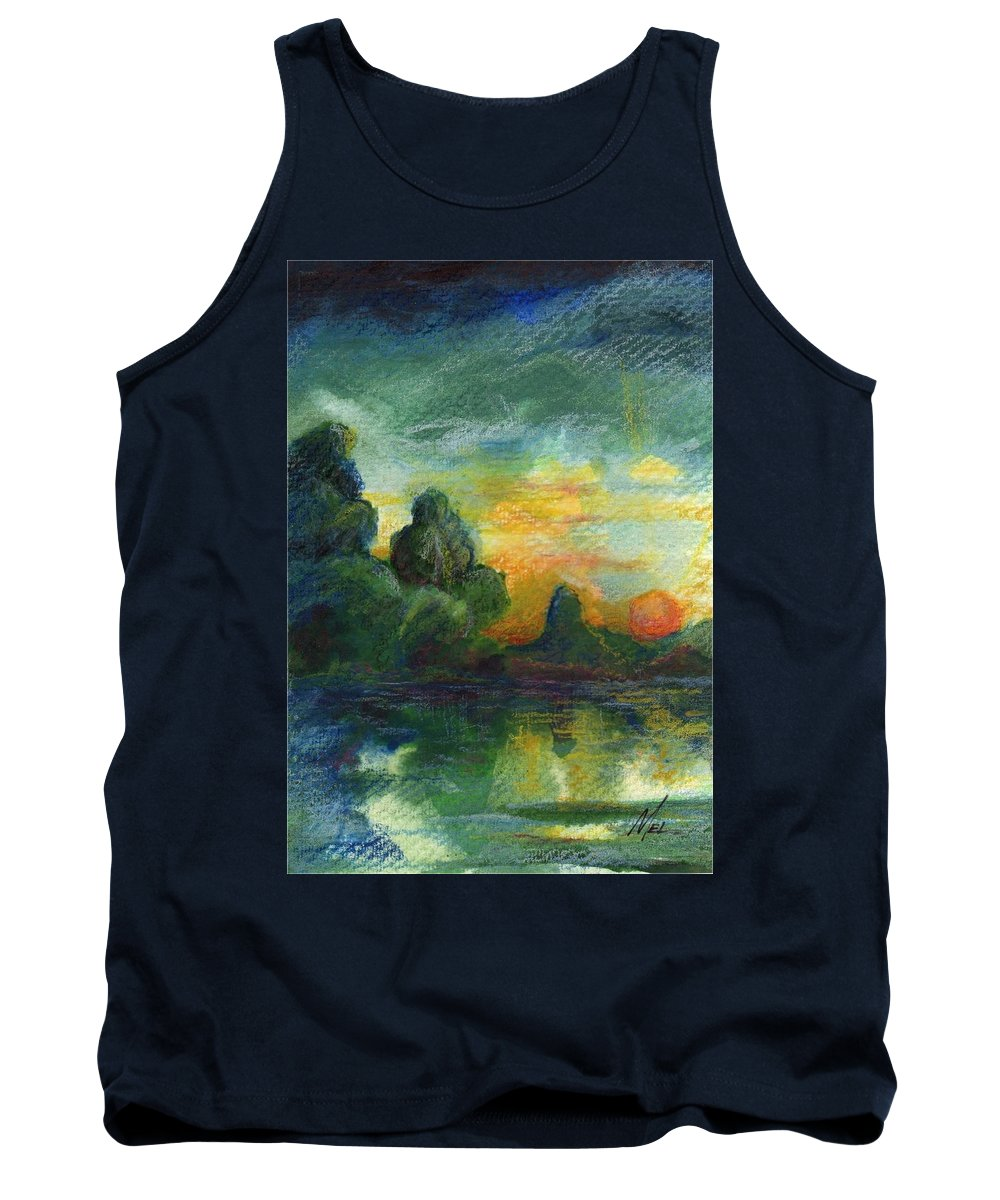 Cove Tank Top featuring the painting Cove Contento by Melody Horton Karandjeff