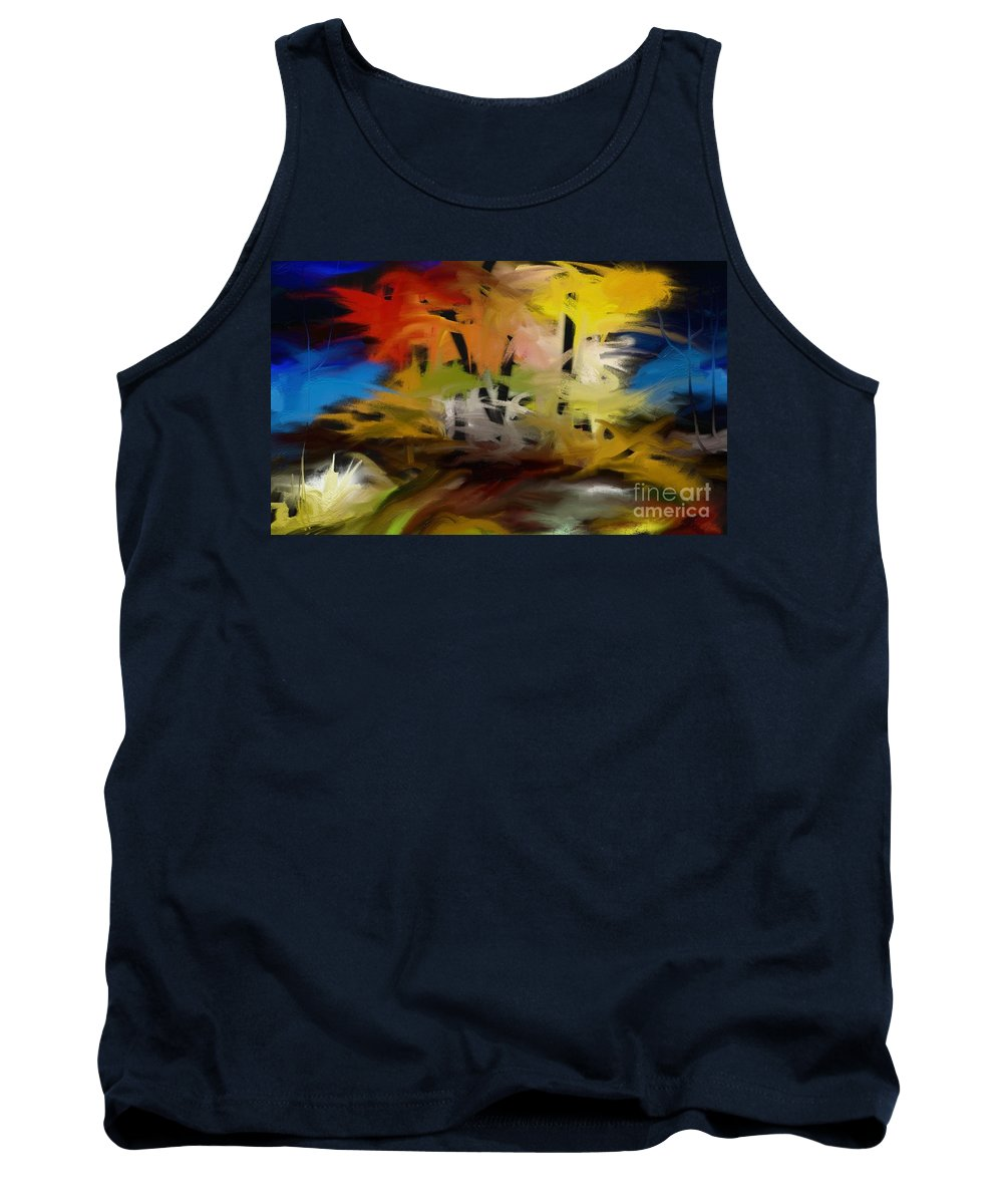 Digital Tank Top featuring the painting Crazy Nature by Rushan Ruzaick
