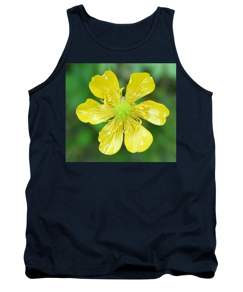 Flower Tank Top featuring the photograph Creeping Buttercup by Valerie Ornstein