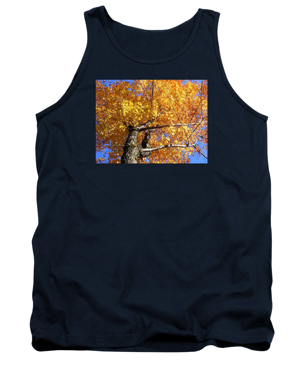 Trees Tank Top featuring the photograph Crown Fire by Dave Martsolf