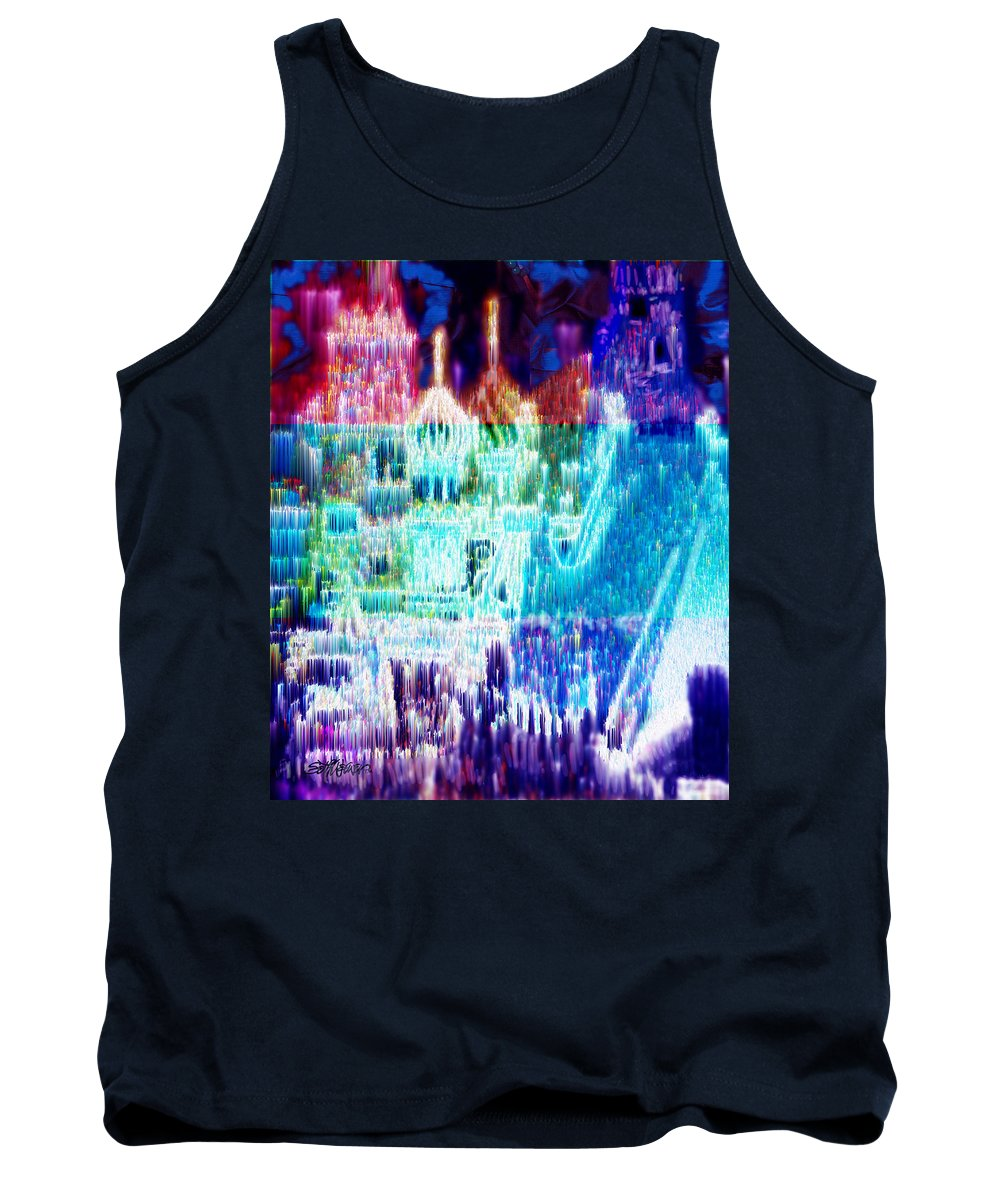 Northern Lights Tank Top featuring the digital art Crystal City by Seth Weaver