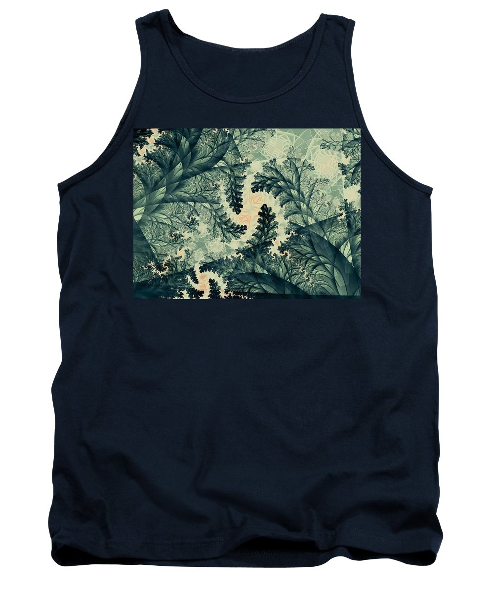 Plant Tank Top featuring the digital art Cubano Cubismo by Casey Kotas