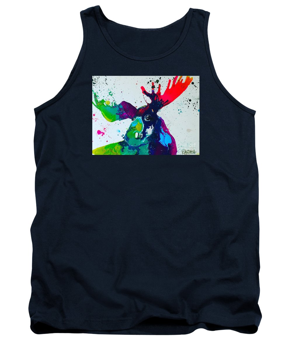 Moose Tank Top featuring the painting Da-moose by Kasha Ritter
