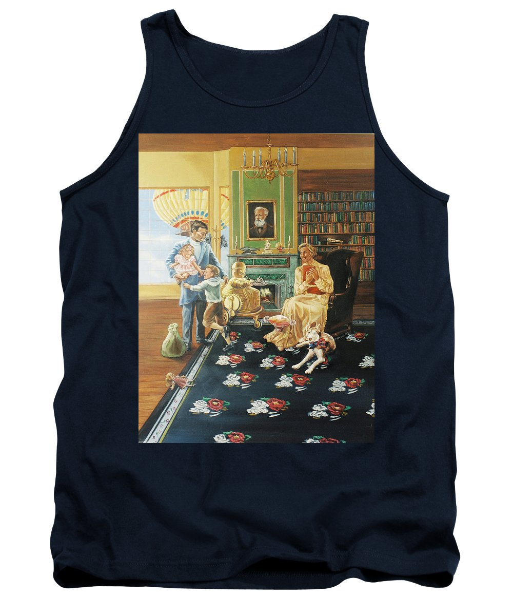 Fantasy Tank Top featuring the painting Daddys Home by Bryan Bustard