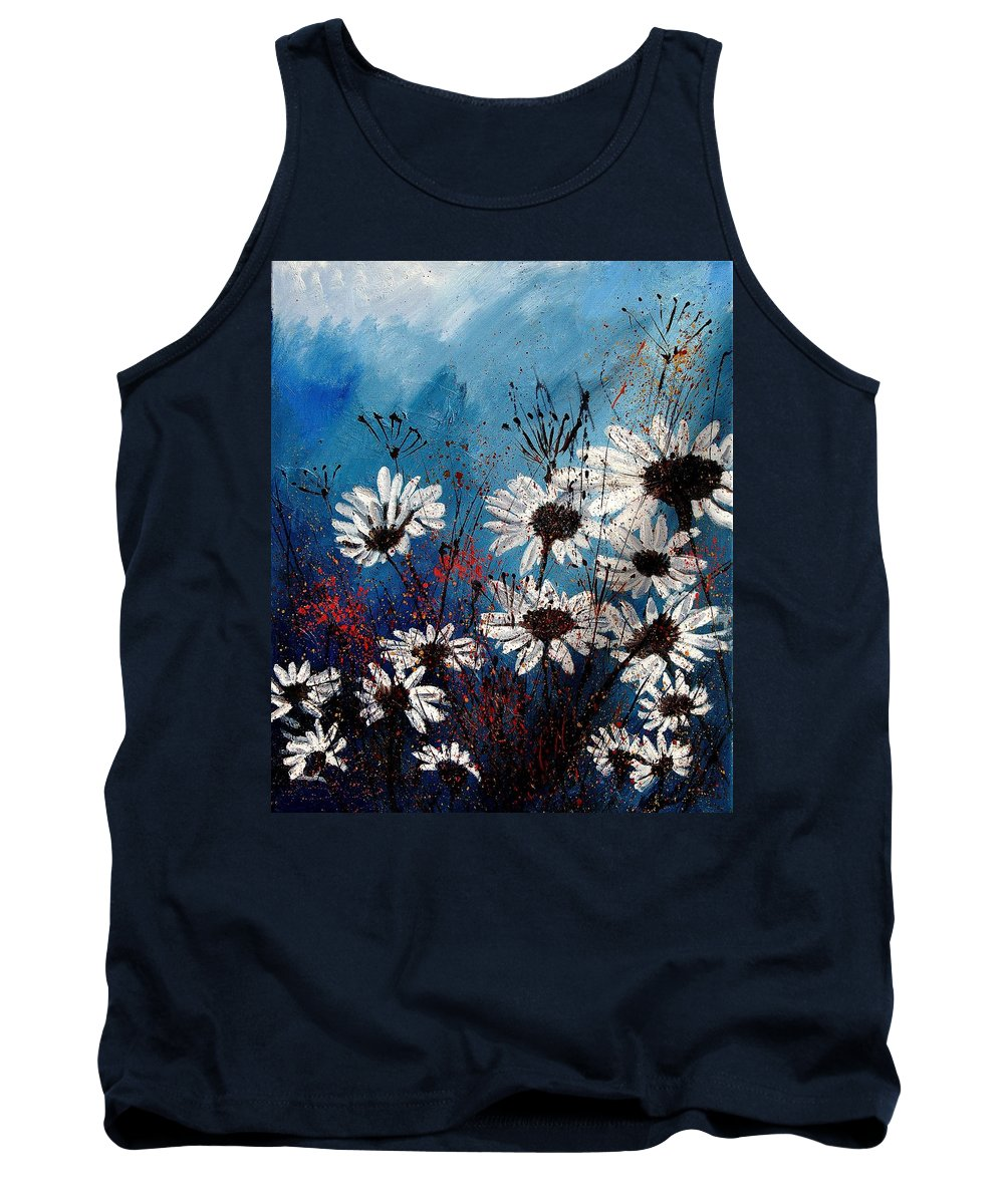 Flowers Tank Top featuring the painting Daisies 59060 by Pol Ledent