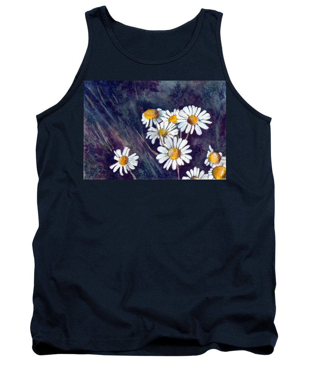 Watercolor Still Life Daisies Flowers Floral Tank Top featuring the painting Daisies by Brenda Owen