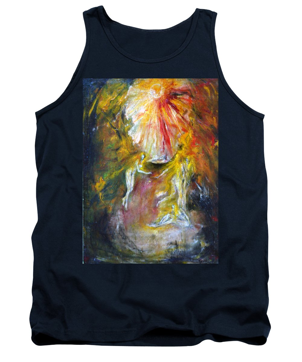 Imagination Tank Top featuring the painting Dance by Wojtek Kowalski