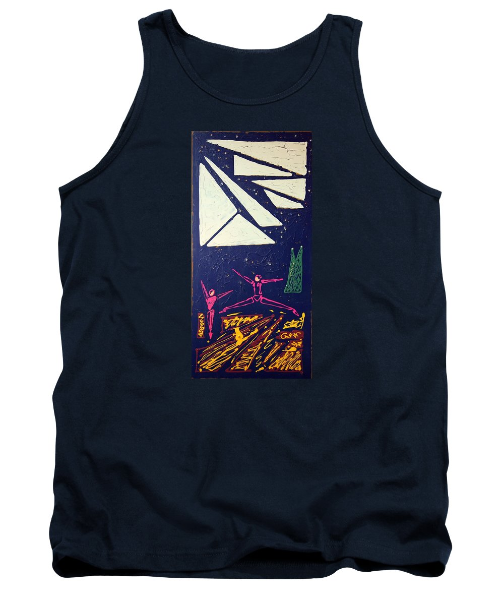 Dancers Tank Top featuring the mixed media Dancing Under The Starry Skies by J R Seymour