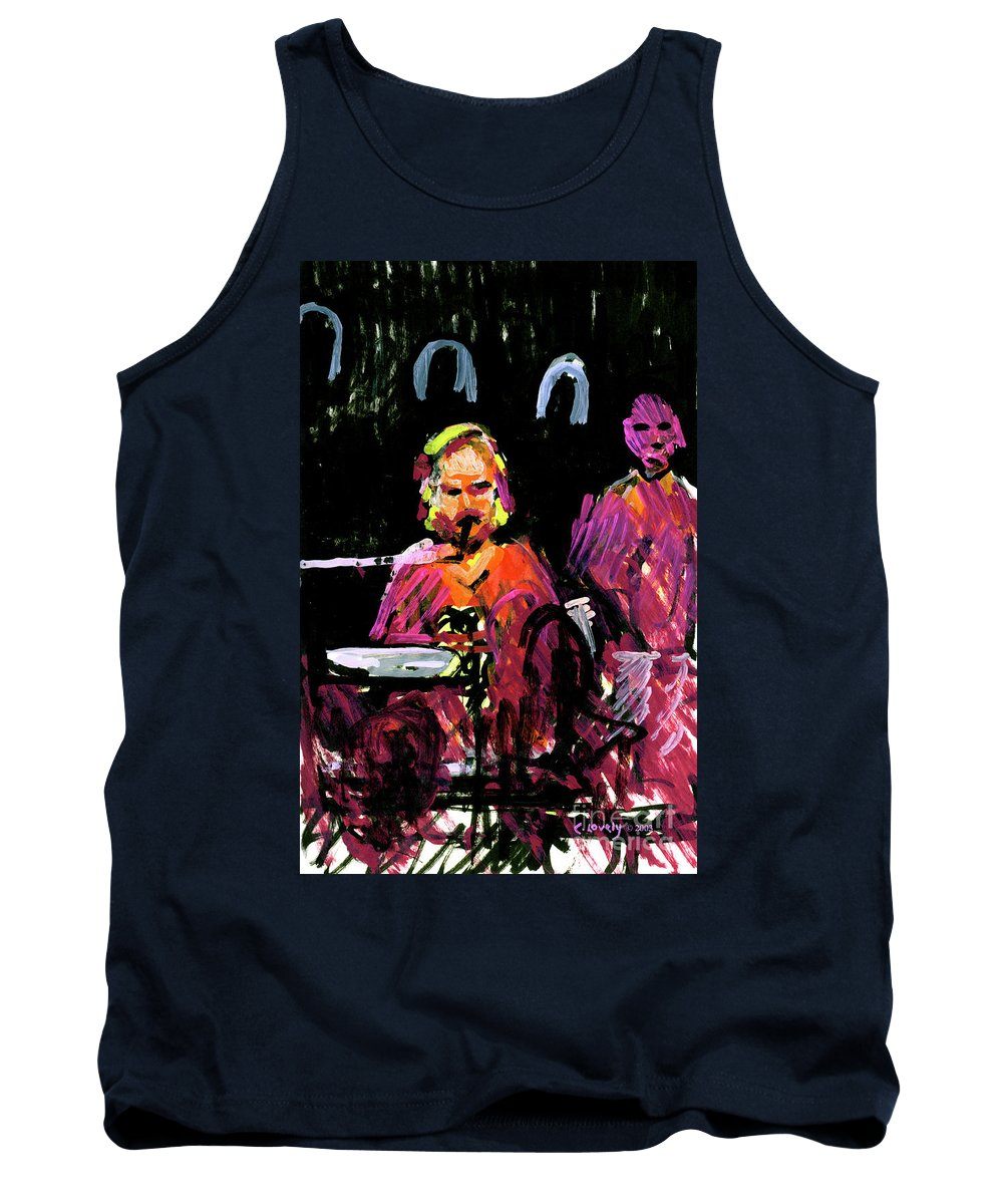 David Wingo On Stage Tank Top featuring the painting David Wingo On Stage by Candace Lovely