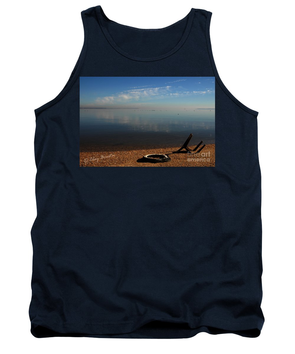 Clay Tank Top featuring the photograph Deserted Beach by Clayton Bruster