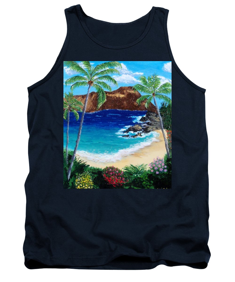 Hawaii Tank Top featuring the painting Diamond Head by Jamie Frier