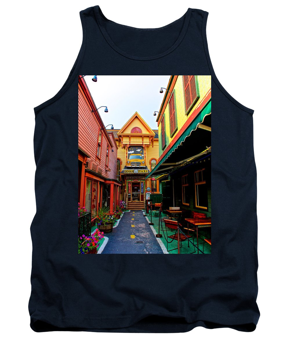 Acadia National Park Tank Top featuring the photograph Dinks Alley by Kathi Isserman