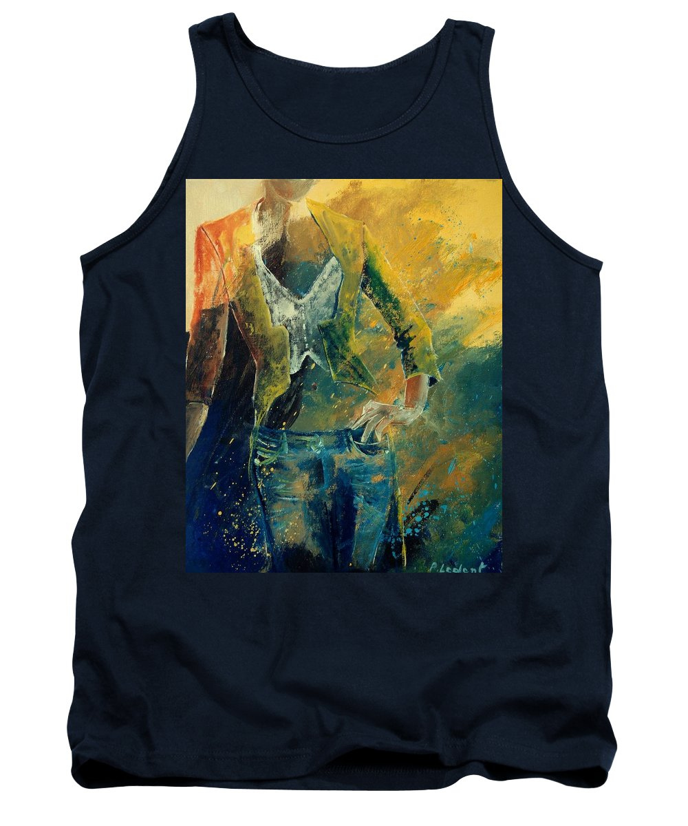 Woman Girl Fashion Tank Top featuring the painting Dinner Jacket by Pol Ledent