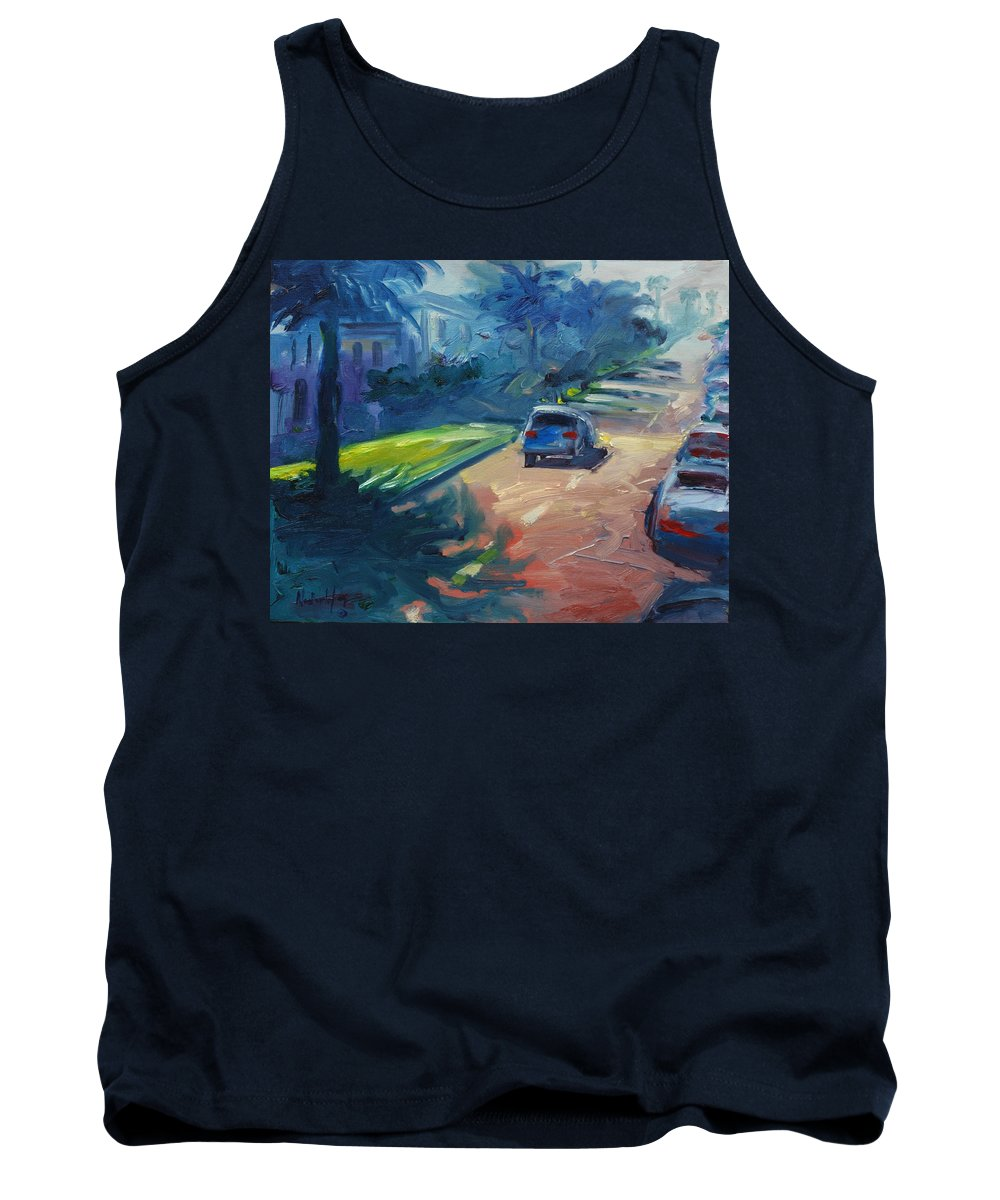 Cityscape Tank Top featuring the painting Dolores Street by Rick Nederlof