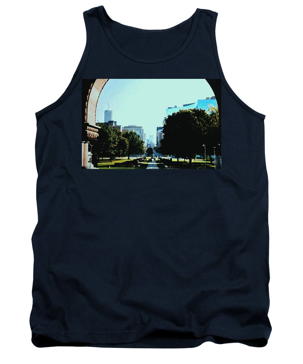 Toronto Tank Top featuring the photograph Down University Avenue by Ian MacDonald