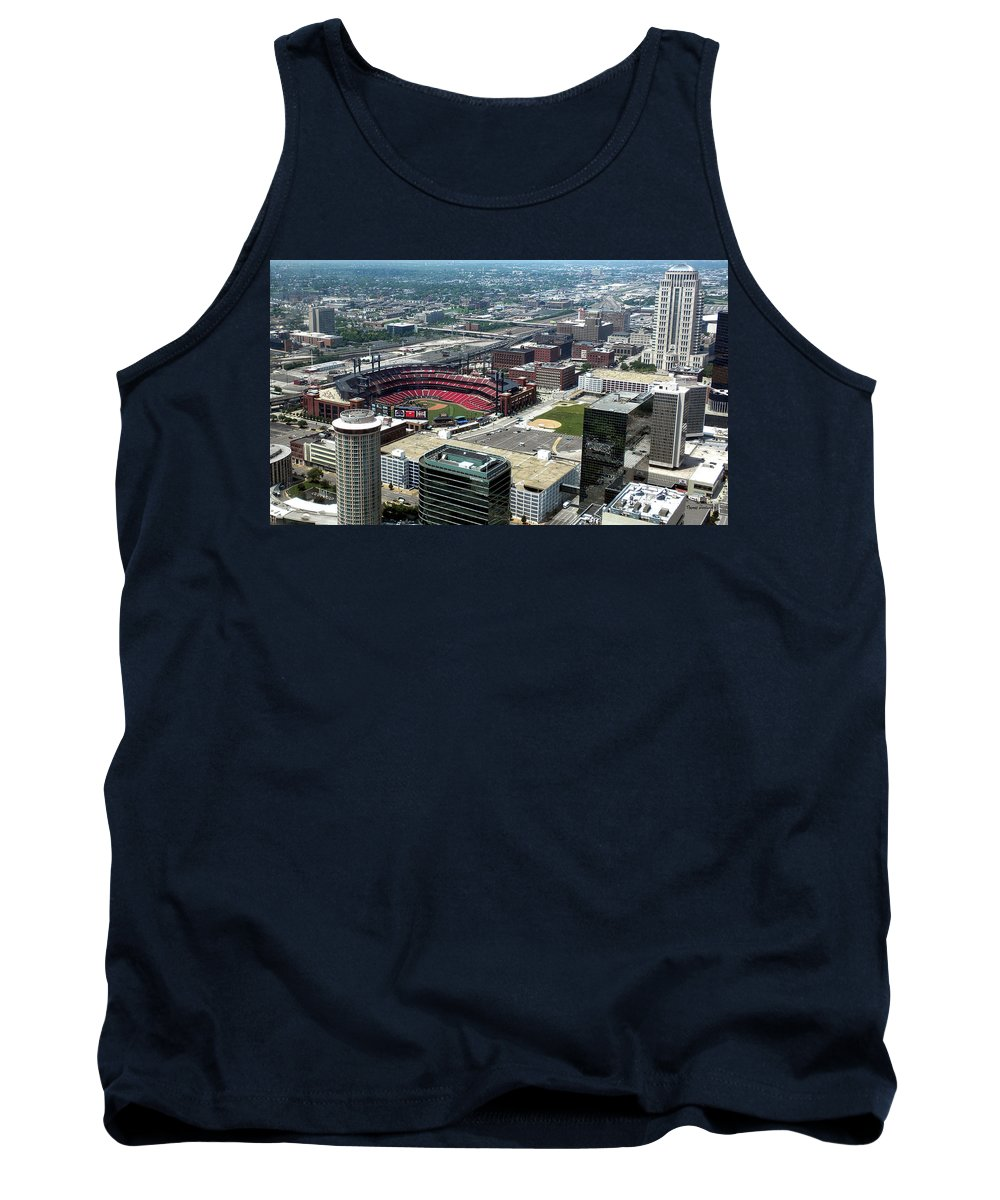 Red Birds Tank Top featuring the photograph Downtown St. Louis 2 by Thomas Woolworth