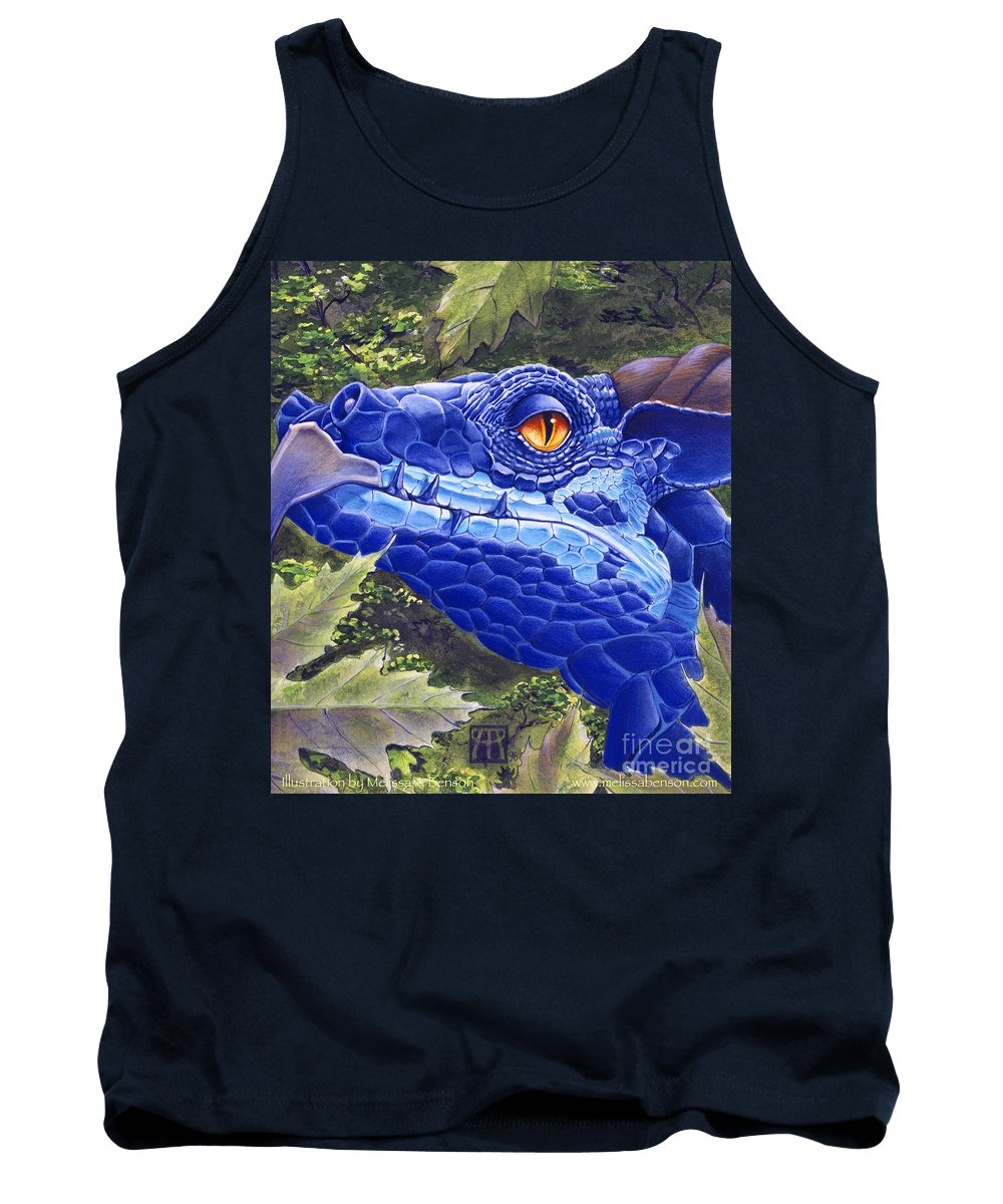 Dragon Tank Top featuring the painting Dragon Eyes by Melissa A Benson
