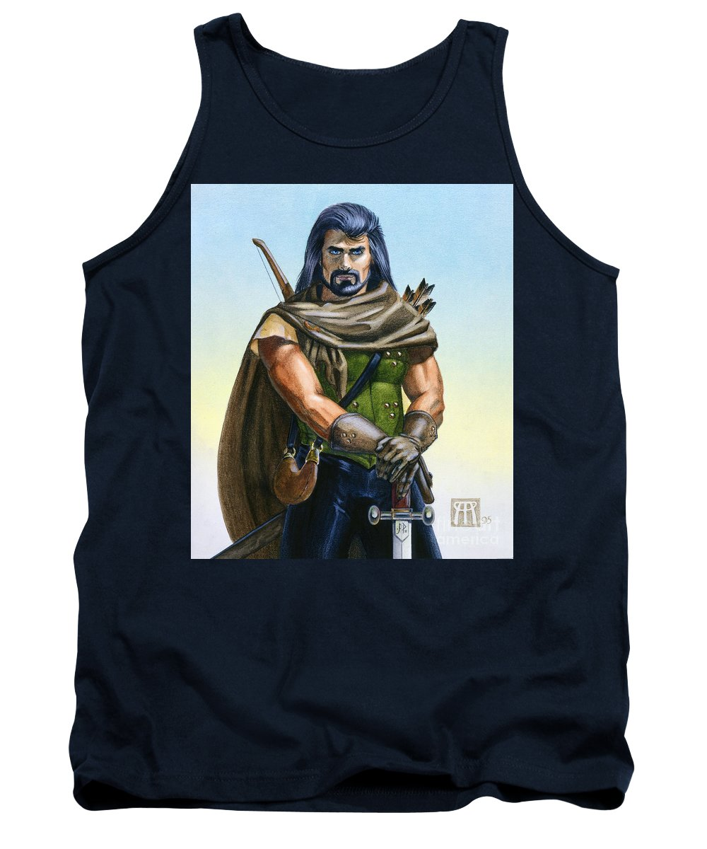 Ranger Tank Top featuring the painting Dragon Tracker by Melissa A Benson