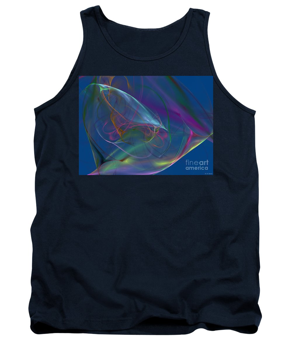 Blue. Dreamy Tank Top featuring the digital art Dreamy Blue by Deborah Benoit