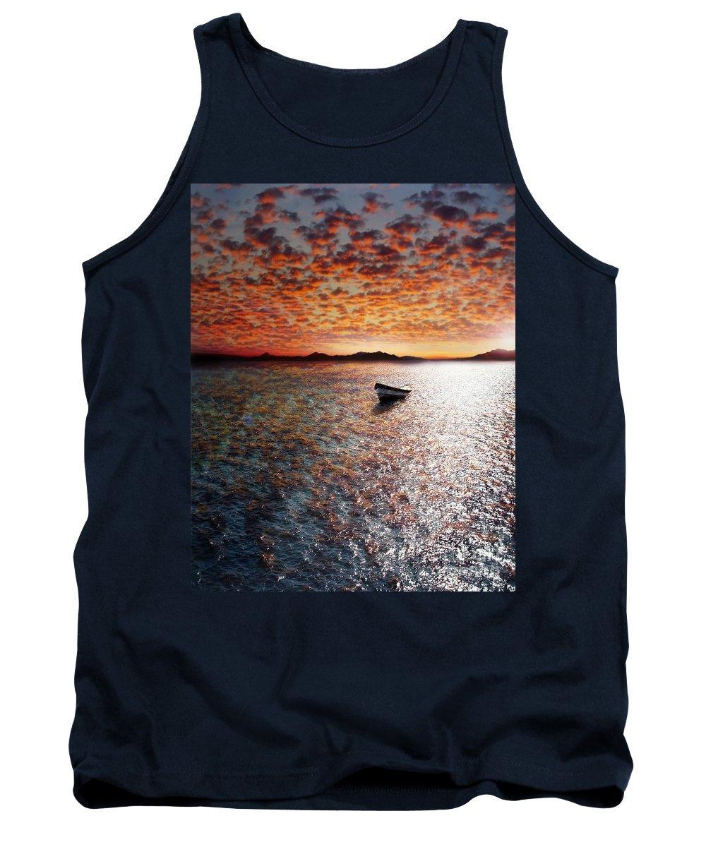 Ocean Tank Top featuring the photograph Drift Away by Jacky Gerritsen