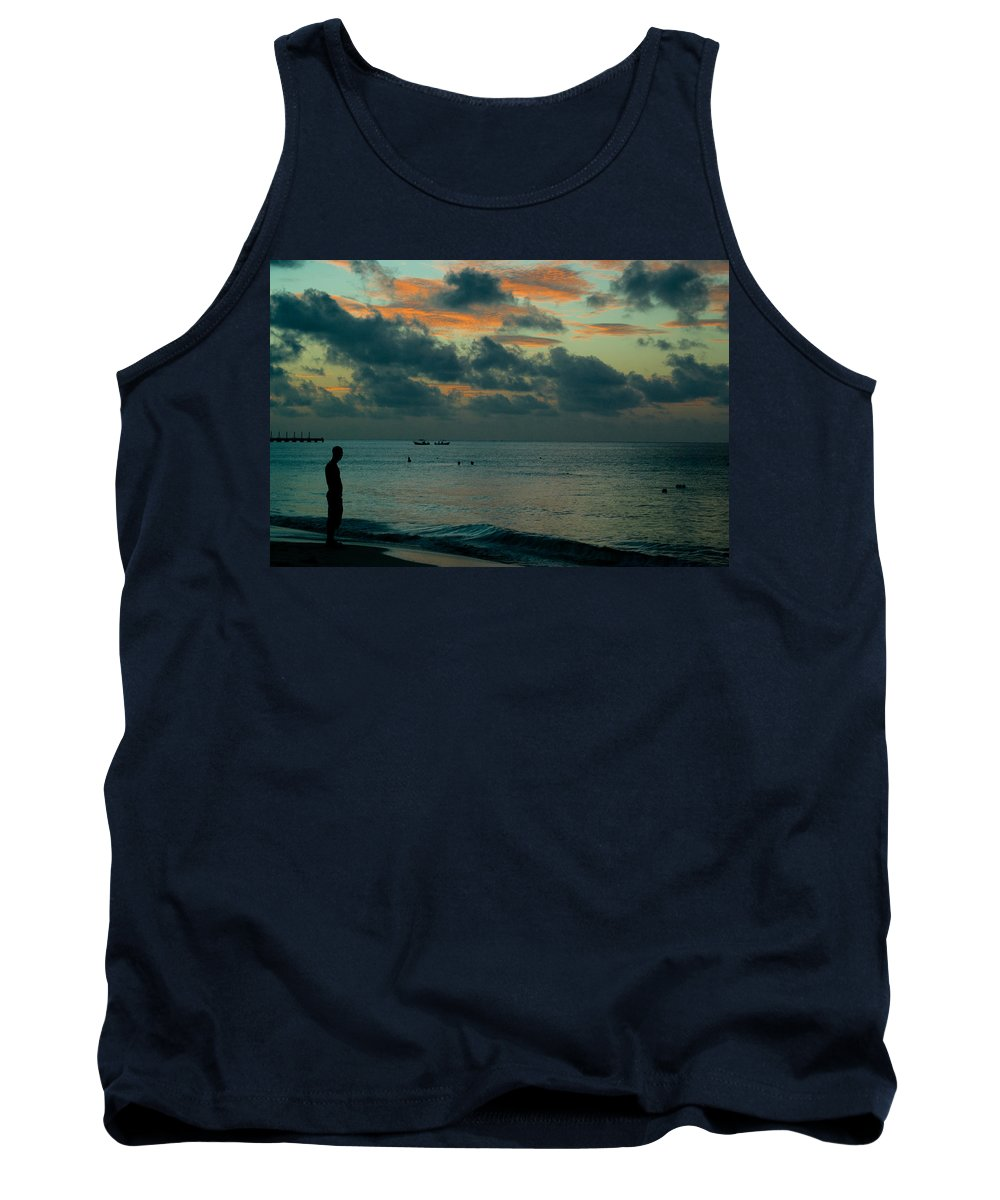Sea Tank Top featuring the photograph Early Morning Sea by Douglas Barnett