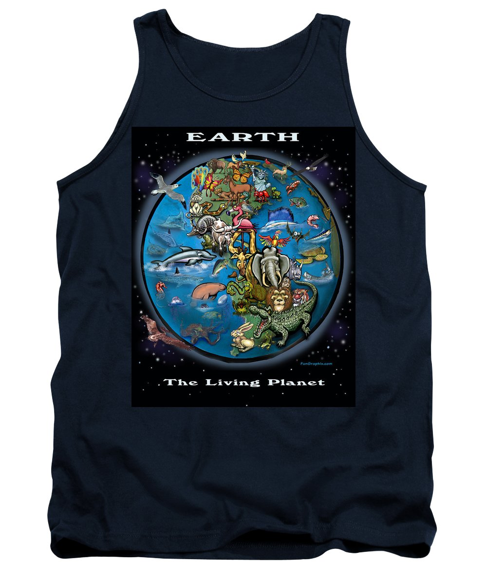 Earth Tank Top featuring the painting Earth by Kevin Middleton