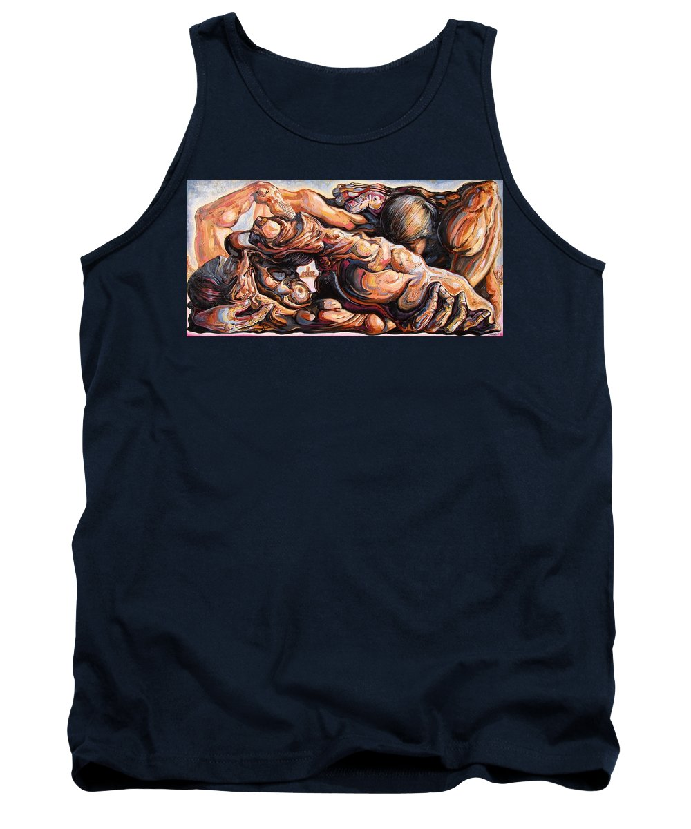 Surrealism Tank Top featuring the painting Ecstasy Maximus by Darwin Leon