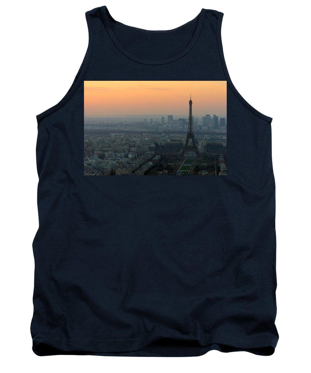 Eiffel Tank Top featuring the photograph Eiffel Tower At Dusk by Sebastian Musial