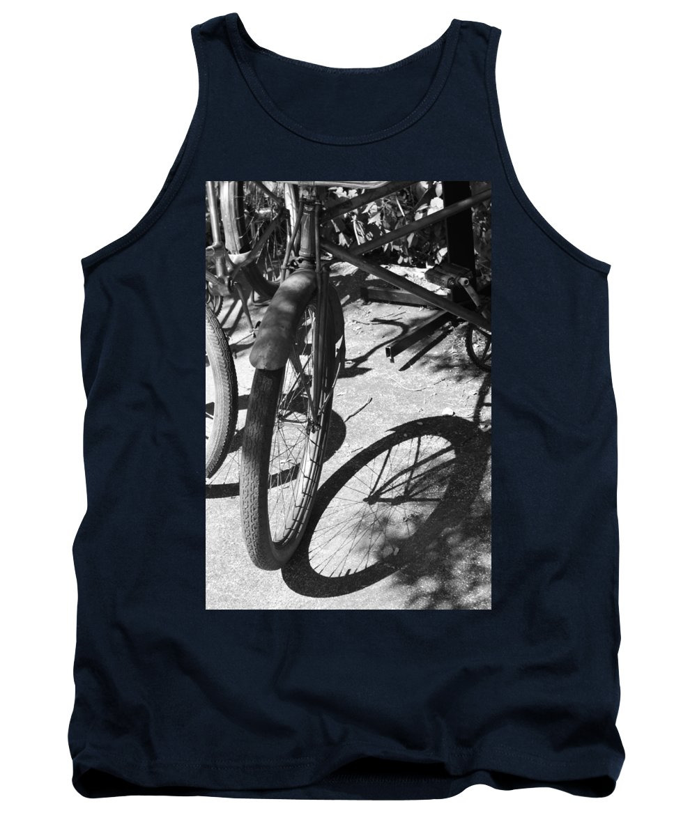 Bike Tank Top featuring the photograph Elgin Bicycle Shadow by Lauri Novak