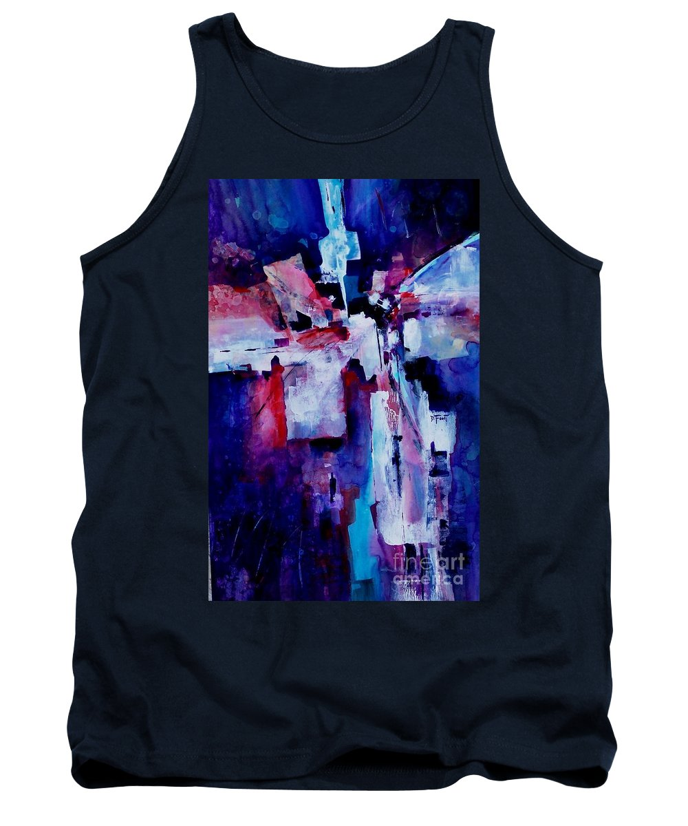 Abstract Expressionism Tank Top featuring the painting Emerging Spirit by Donna Frost