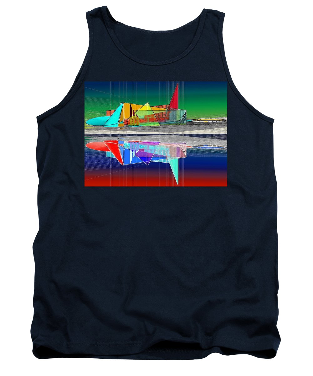 Cathedral Tank Top featuring the digital art Ethereal Reflections by Don Quackenbush