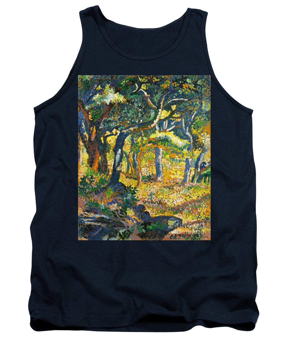 Henri-edmond Cross Tank Top featuring the painting Etude by Celestial Images