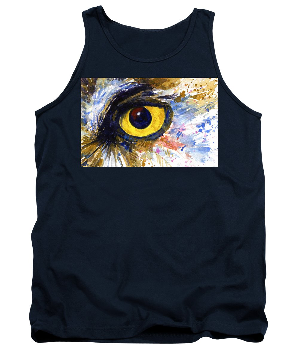 Owls Tank Top featuring the painting Eyes Of Owl's No.6 by John D Benson