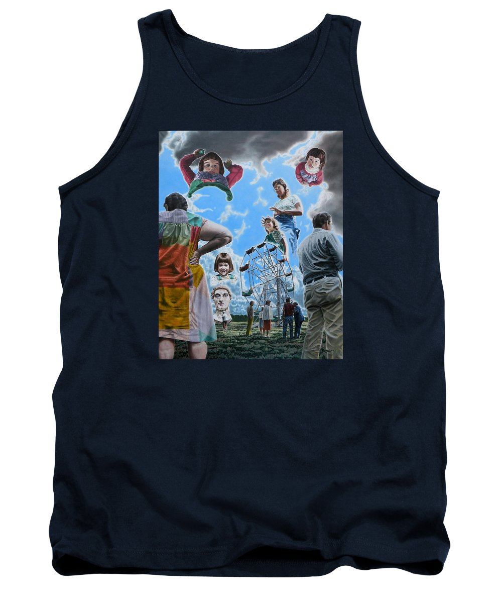 Woman Tank Top featuring the painting Ferris Wheel by Dave Martsolf