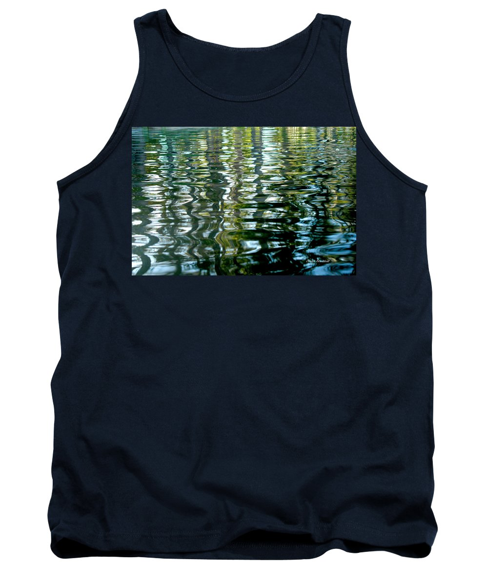 Water Tank Top featuring the photograph Finger Painting by Donna Blackhall