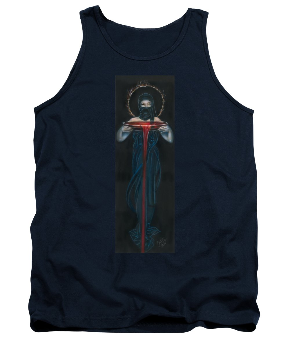 Tank Top featuring the painting Fire by Wayne Pruse