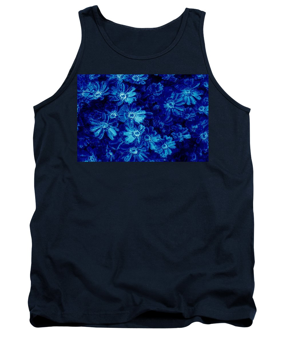 Tile Tank Top featuring the photograph Flowers On Tiles by Phill Petrovic