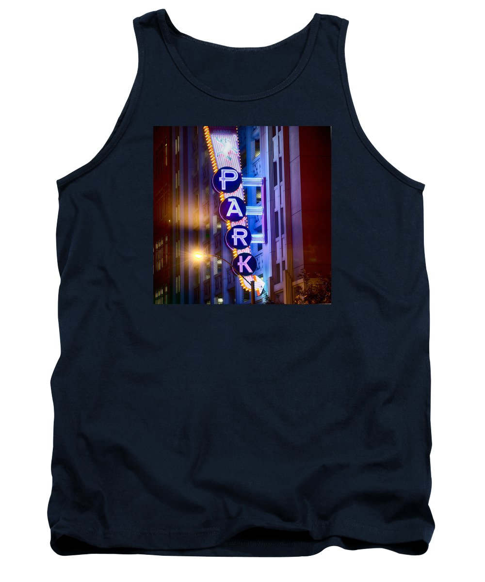 Fort Worth Tank Top featuring the photograph Fort Worth Park Sq by Rospotte Photography