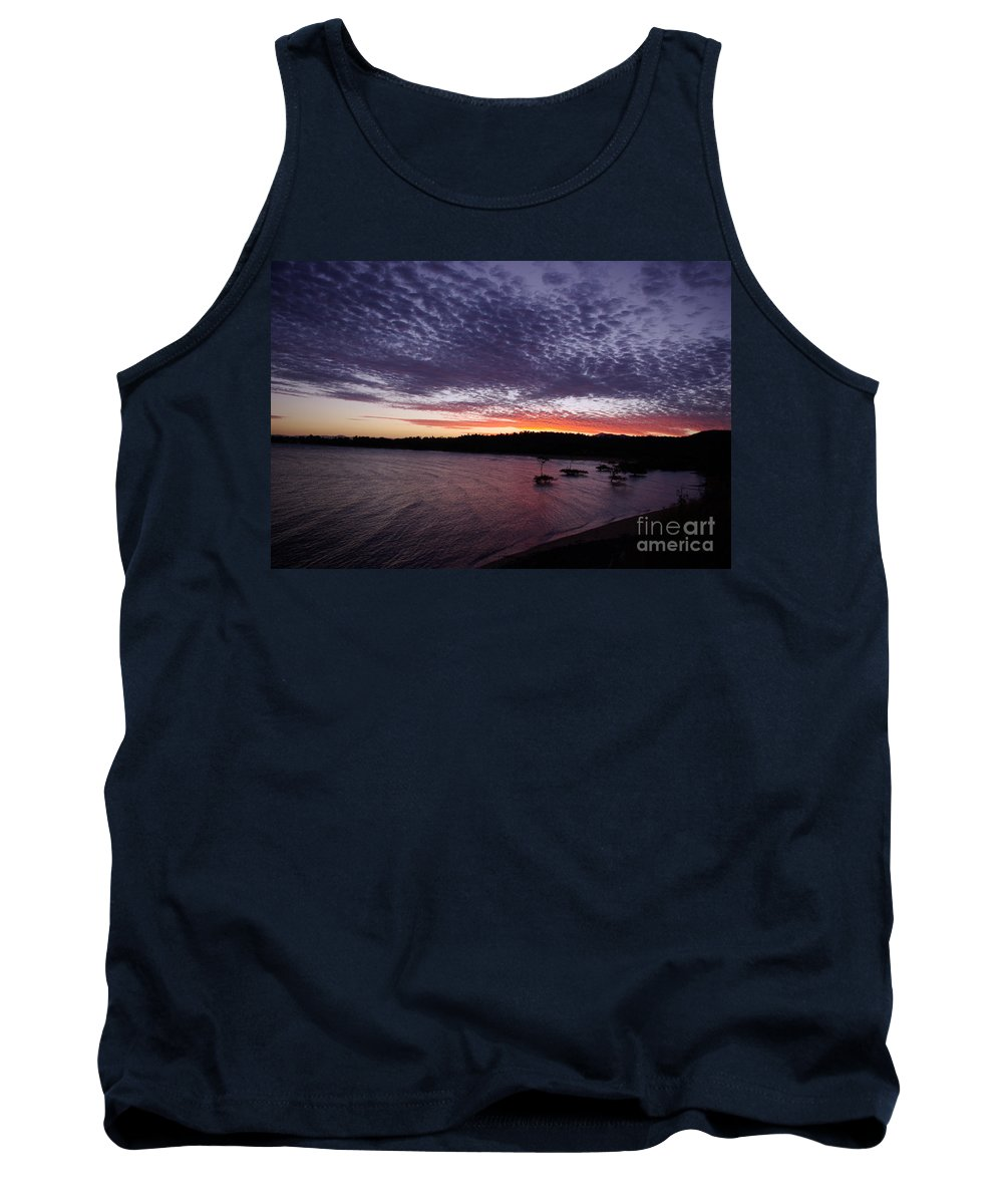 Landscape Tank Top featuring the photograph Four Elements Sunset Sequence 7 Coconuts Qld by Kerryn Madsen - Pietsch