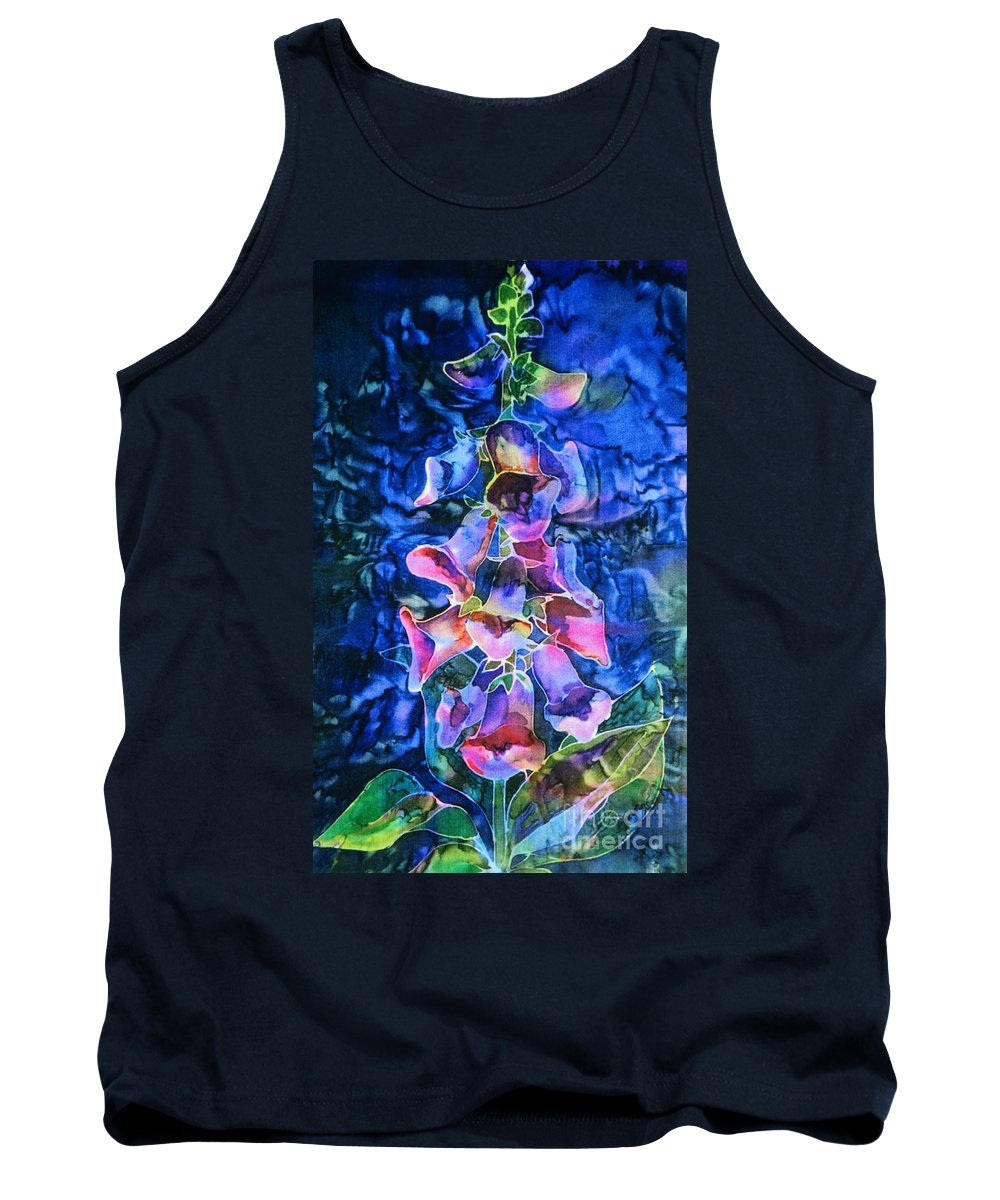 Foxglove Flower Tank Top featuring the painting Foxgloves by Paula Chapman