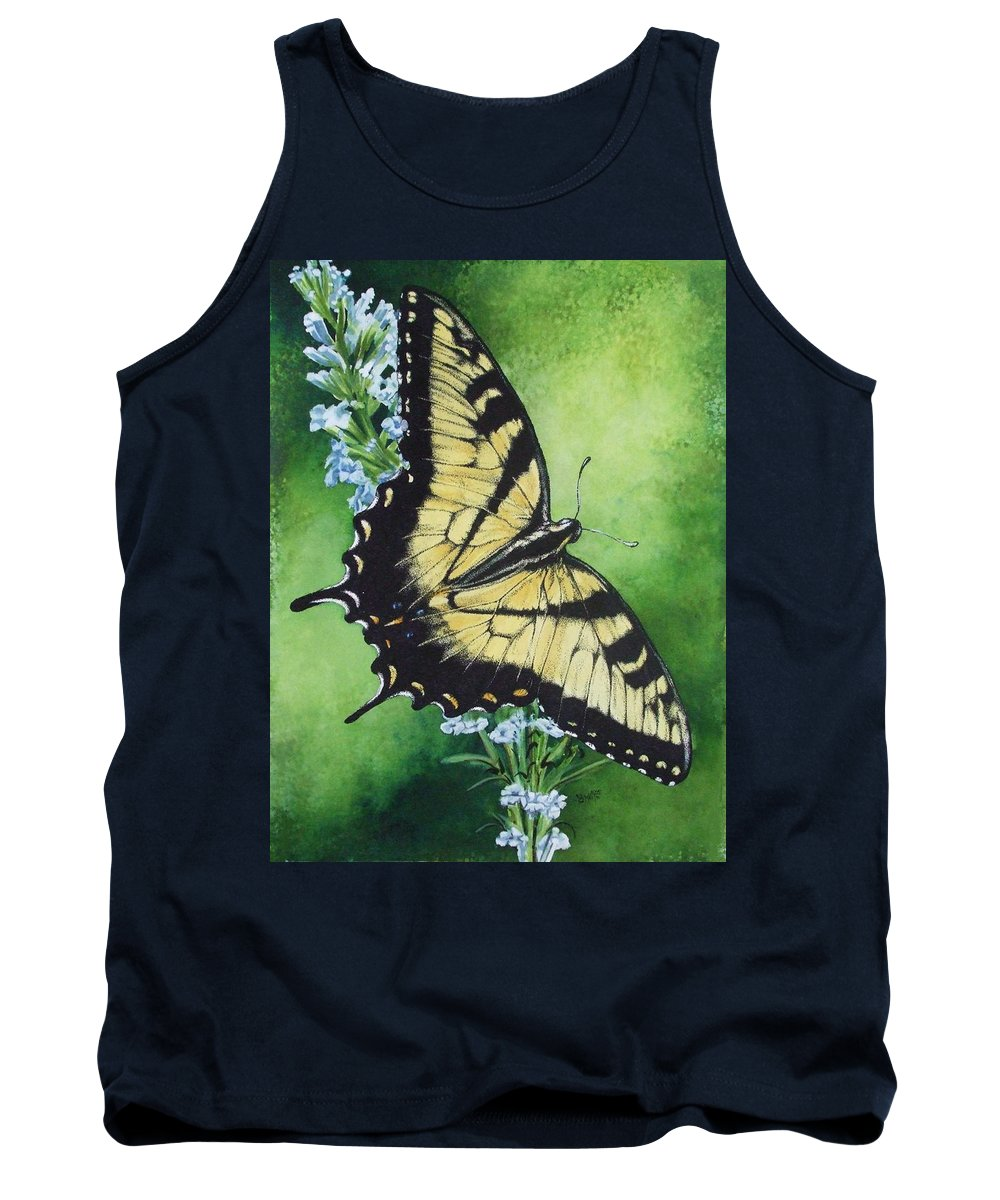Bugs Tank Top featuring the mixed media Fragile Beauty by Barbara Keith